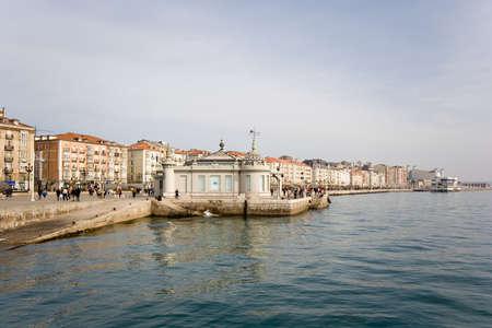 santander: walk at edge of the sea , Santander,  Spain,