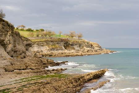 santander: coastline around Santander, Spain Stock Photo