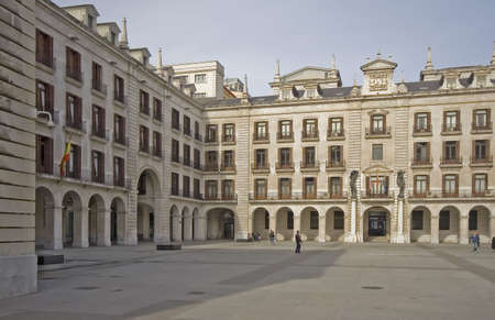 santander: Plaza Porticada, Santander, Spain Stock Photo