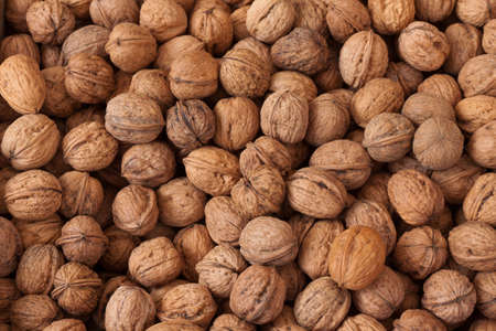 Nuts, for image backgrounds or food illustration Stock Photo