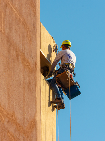 Worker working at height.
