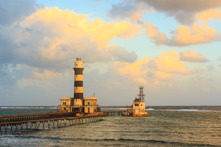 Lighthouse. Deadalus reef.