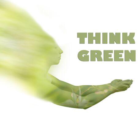 think green: La madre naturaleza pensar en verde