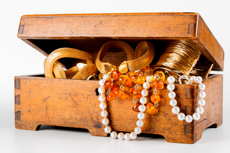jewlery: jewelry box on white background