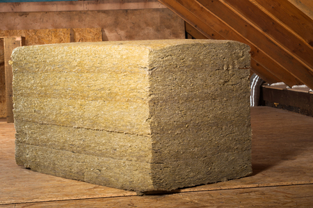home insulation on a roof Stock Photo