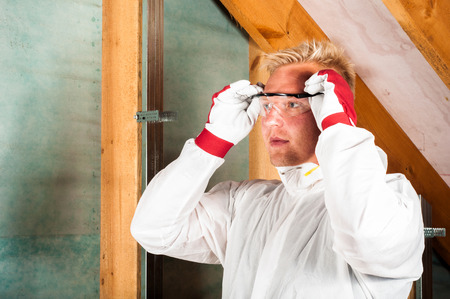 protective suit: home insulation workwear glases and glowes