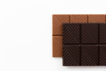 Chocolate bar on a white background