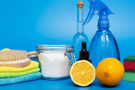 Eco-friendly natural cleaners, cleaning products. Homemade green cleaning Stock Photo