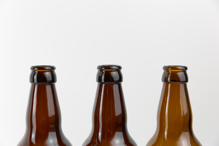 Empty beer bottles. Recycling glass concept Stock Photo