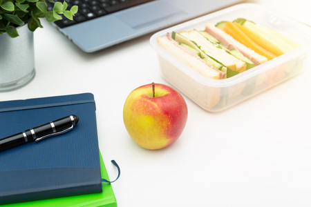 Healthy eating a sandwich in lunchbox 写真素材