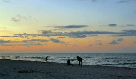 Sunset on the Baltic Sea Standard-Bild