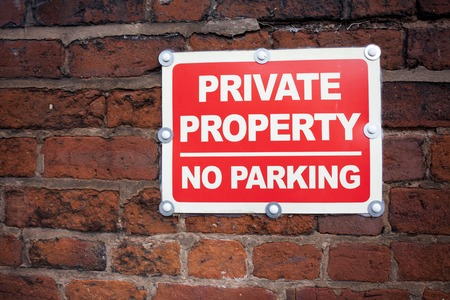Sign private property no parking.