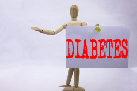 Conceptual hand writing text caption inspiration showing Diabetes Business concept for Disease Medical Insulin written on sticky note sculpture background