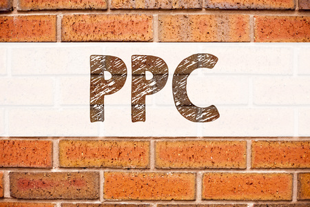 Conceptual announcement text caption inspiration showing PPC - Pay per Click. Business concept for Internet SEO Money written on old brick background with space