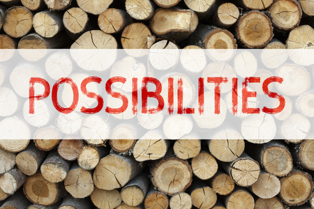 Conceptual announcement text caption inspiration showing Possibilities Business concept for Impossible Choice Choices written on wooden background with space