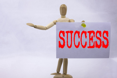 Conceptual hand writing text caption inspiration showing Success Business concept for Victory Triumph Good Result Favourable Outcome written sticky note sculpture background with space