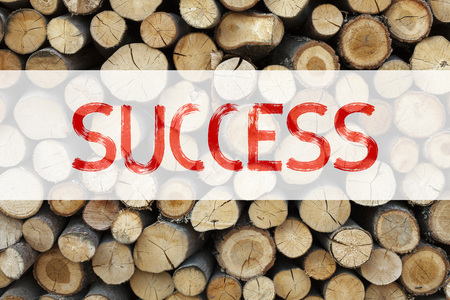 Conceptual announcement text caption inspiration showing Success Business concept for Victory Triumph Good Result Favourable Outcome written on wooden background with space Stock Photo