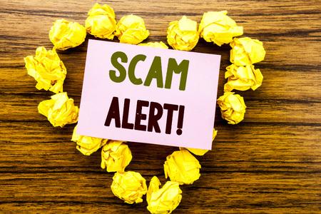 Scam Alert. Business concept for Fraud Warning 写真素材