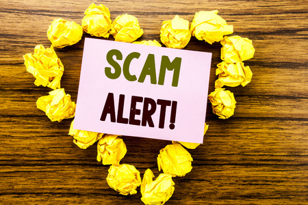 Scam Alert. Business concept for Fraud Warning Reklamní fotografie