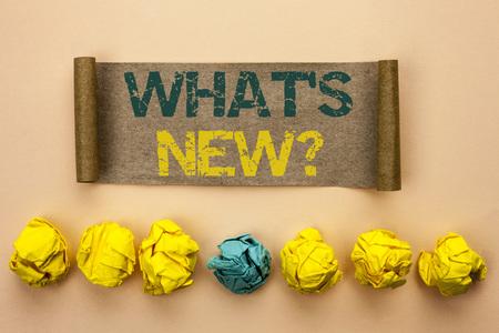 Escribir nota mostrando qué es la nueva pregunta. Foto de archivo