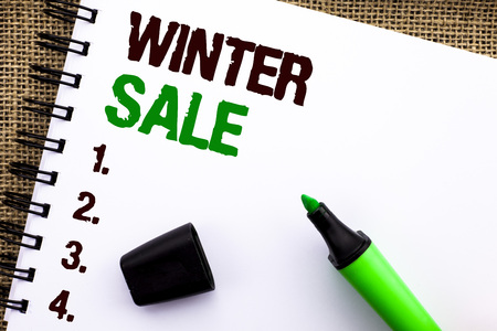 Text sign showing Winter Sale.
