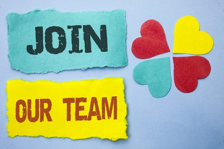 Conceptual hand writing showing Join Our Team. Stock Photo
