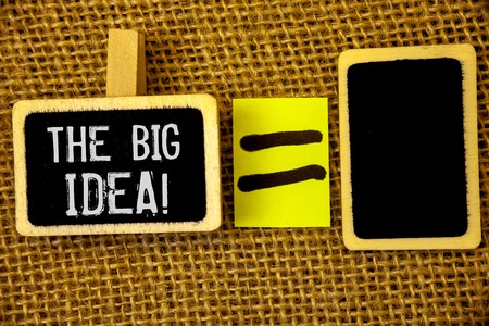 Text sign showing The Big Idea Motivational Call. Conceptual photo Have a Successful Idea Smart Thinking