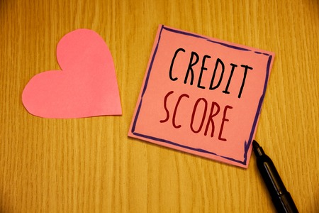 Writing note showing  Credit Score. Business photo showcasing Capacity to repay a loan Creditworthiness of an individual