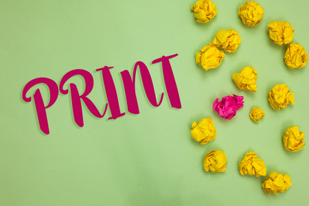 Handwriting text writing Print. Concept meaning Produce letter numbers symbols on paper by machine using ink or toner Paper object love ideas cool crumpled papers ideas mistakes several tries