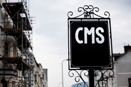 Writing note showing  Cms. Business photo showcasing Content Management System supports modification of digital content Vintage black board sky old city ideas scaffolding landscapes antique 写真素材