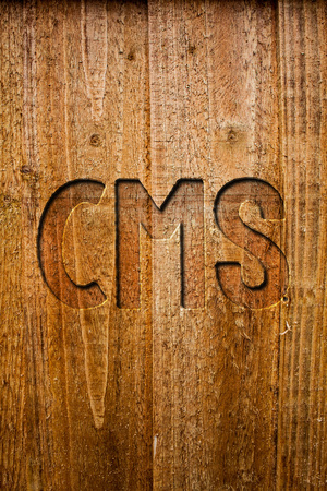 Text sign showing Cms. Conceptual photo Content Management System supports modification of digital content Ideas messages wooden background intentions feelings thoughts communicate