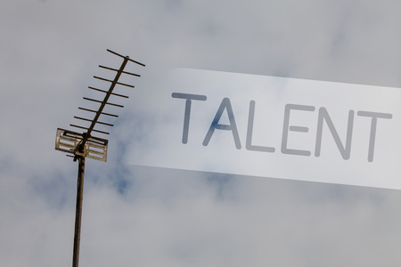 Writing note showing Talent. Business photo showcasing Natural abilities of people showing specialized skills they possess Sky cloud cloudy grey gloomy tall big antenna nature rainy day weather