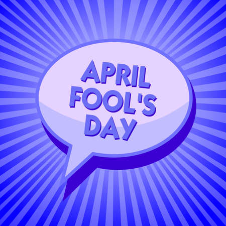 Writing note showing April Fool s is Day. Business photo showcasing Practical jokes humor pranks Celebration funny foolish Sparkling waves design script text lines ponder ideas convey message Stock Photo