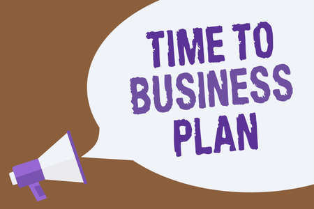 Text sign showing Time To Business Plan. Conceptual photo organizing schedule for work Marketing product Hot issue announcement attention recall warning notice public message