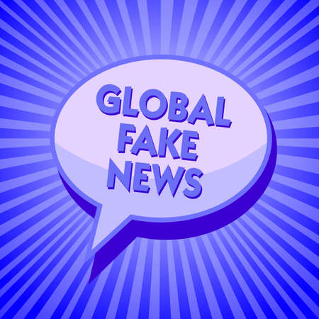 Writing note showing Global Fake News. Business photo showcasing False information Journalism Lies Disinformation Hoax Sparkling waves design script text lines ponder ideas convey message