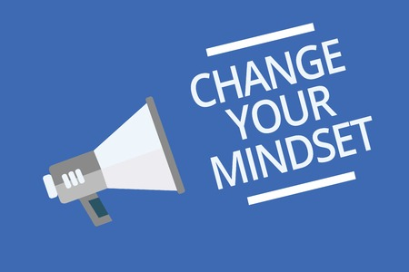 Text sign showing Change Your Mindset. Conceptual photo replace your beliefs way of thinking mental path Symbol warning announcement signals indication alarming speaker scripts