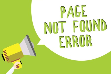 Text sign showing Page Not Found Error. Conceptual photo message appears when search for website doesnt exist Multiline text message idea convey report sound speaker announcement