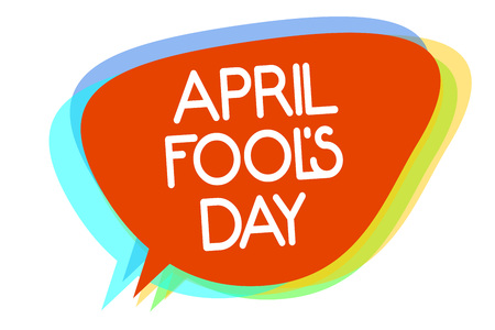 Conceptual hand writing showing April Fool s is Day. Business photo showcasing Practical jokes humor pranks Celebration funny foolish Multiline text layer design pattern red background think Banco de Imagens
