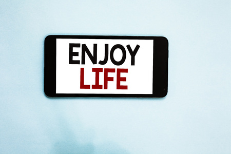 Text sign showing Enjoy Life. Stock Photo