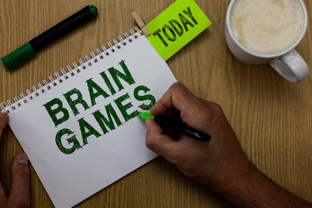 Conceptual hand writing showing Brain Games.