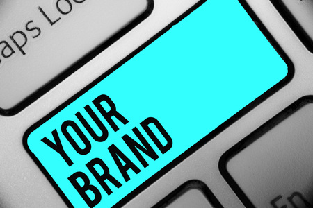 Word writing text Your Brand. 版權商用圖片