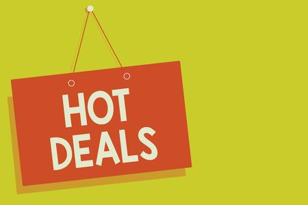 Handwriting text Hot Deals.