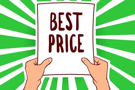 Handwriting text Best Price. Stok Fotoğraf - 106478257