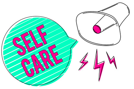 Conceptual hand writing showing Self Care.
