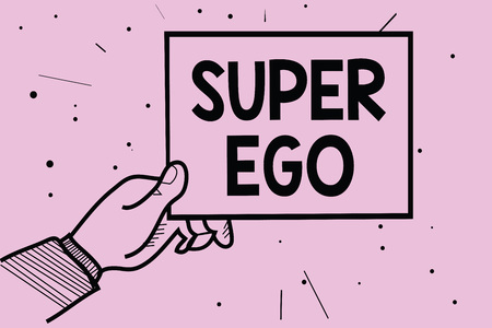 Word writing text Super Ego.