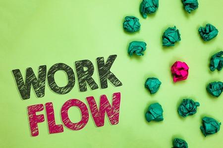 Text sign showing Work Flow. 版權商用圖片