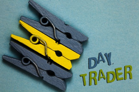 Conceptual hand writing showing Day Trader.