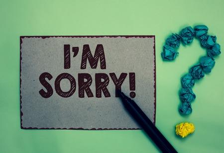 Word writing text I am Sorry. Stok Fotoğraf
