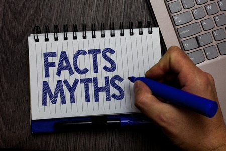 Writing note showing Facts Myths.