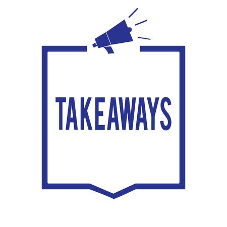 Handwriting text Takeaways. Stok Fotoğraf